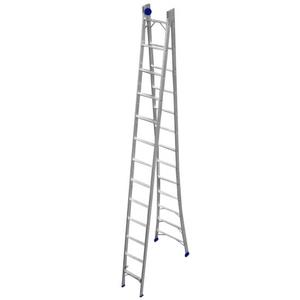 Escada Extensiva de Alumínio DUPLA 2 x 13 Degraus - REAL