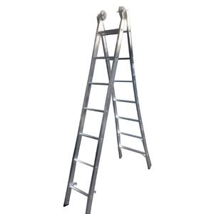 Escada Extensiva de Alumínio DUPLA  2 x 7 Degraus