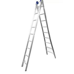 Escada Extensiva de Alumínio DUPLA 2 x 9 Degraus