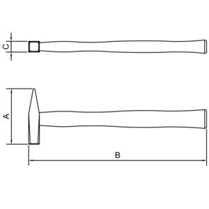 Martelo pena com cabo de madeira 400 gramas - tramontina 40443/006