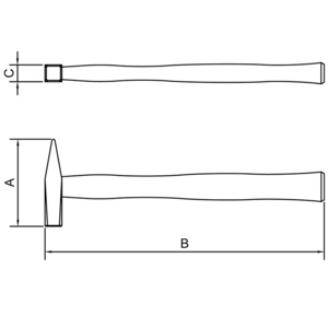 Martelo de pena com cabo de madeira 800 gramas - Tramontina 40443/009