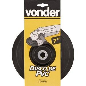 Disco de borracha flexível para lixadeira 7 - vonder