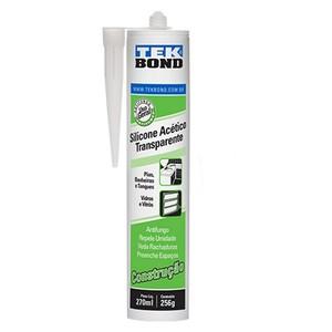 SILICONE Construção Transparente  270ml/256g - TEK BOND