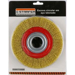 Escova circular em aço latonado  6 X 3/4 - STARFER