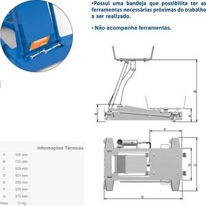 Macaco Hidráulico para Caixa de Transmissão  1000 Kg - MCN1000