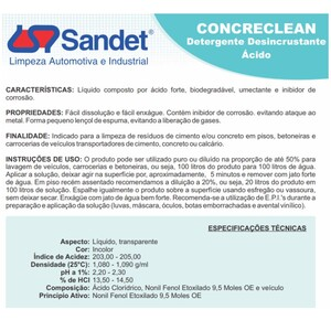 Detergente Concreclean 5 litros sandet