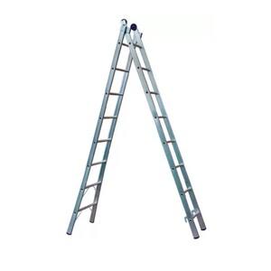 Escada Extensiva  de Alumínio DUPLA  2 x 8 Degraus - REAL