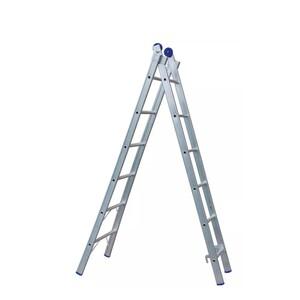 Escada Extensiva de Alumínio DUPLA  2 x 6 Degraus - REAL