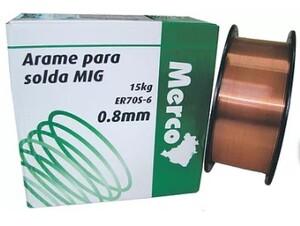 ARAME SOLDA MIG 0.8MM BOBINA COM 15 KG