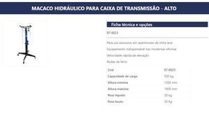 MACACO DE TRANSMISSAO ALTO 500KG