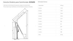 GUINCHO GIRATORIO PARA CAMIONETE 450KG