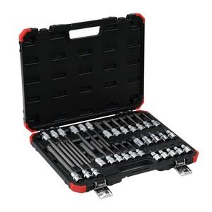 Jogo de chaves soquete 1/2? TX (perfil hexalobular), 32 peças