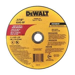 DISCO DE CORTE INOX 7 X 1.6MM DEWALT